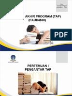 Presentasi Pertemuan 1_PAUD4500_TAP_Sri Tatminingsih_2016.ppt