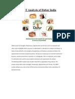SWOT Analysis of Dabur India