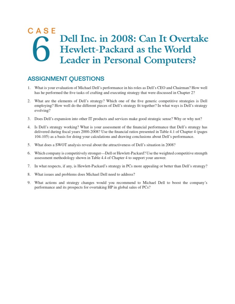Assignment Questions Case06