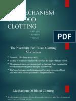 10.4 Mehanism of Blood Clotting