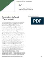 """Description du Projet """"Papel sellado"""" – proyecto _papel sellado_"""