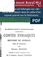 versión siriaca en Francés.