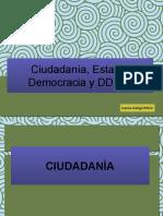 Ciudadanía, estado y democracia