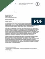 Wells Fargo Letter