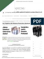 Ley Orgánica del Sistema Financiero Nacional - Pandectas Digital
