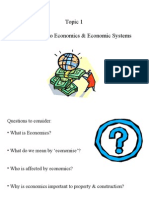 Lecture 1 Intro to Economics