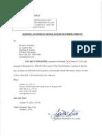 Swetman Individual Subpoena Signed - LS (00434670x9CCC2)