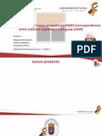 Cómo Crear Un Archivo Nuevo Proyecto en GAMS-Correspondencia Entre Notación Algebraica y Lenguaje GAMS
