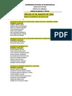 COLACIÓN DEL 07 DE AGOSTO DE 2020