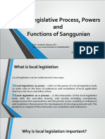 local legislative process, powers and functions of sanggunian