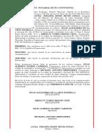 ACTO  NOTARIAL DE NO CONVIVENCIA - JULIO ALEJANDRO DE LA CRUZ ESTRELLA y MIKELVY YUBELI BISONO CRUZ