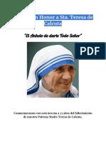 Novena Sta Teresa de Calcuta (1)