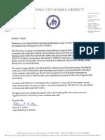 Watertown City School District Oct. 9, 2020