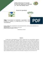 proyecto socioproductivo sobre la siembra de la yuca.