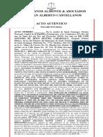 ACTO AUTÉNTICO PAGARE NOTARIAL - PAULINO ACACIO MONTIILA y BRIGIDA SORIANO DE LA ROSA.docx