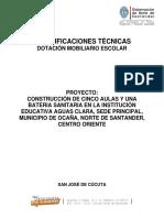 13. ESPECIFICACIONES TÉCNICAS DOTACIÓN