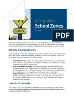 driving safety in school zones