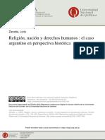 Religión, nación y derechos humanos - Zanatta