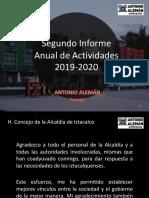 Antonio Alemán, Concejal de Iztacalco   2° Informe de Actividades