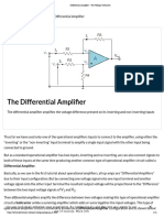 Differential Amplifier - The Voltage Subtractor