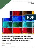 Inversión española en México_ plásticos y pigmentos catalanes para su industria automotriz - Sputnik Mundo