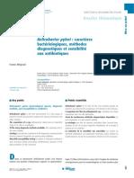 Helicobacter pylori caractères bactériologiques, méthodes diagnostiques et sensibilité aux antibiotiques