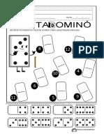 atividade conta dominó