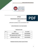PENGURUSAN KURIKULUM BILIK DARJAH KPF 5023