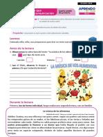 FICHA DE APRENDIZAJE COMUNICACIÓN  4° PRIMARIA - OCTUBRE 2020