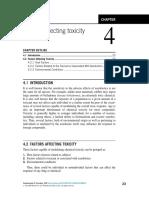 factores que afectan la toxicidad