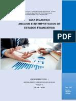 GUIA 4A- ANALISIS E INTERPRETACION DE ESTADOS FINANCIEROS