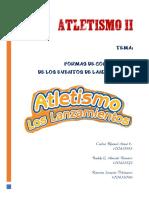 ATLETISMO II - TRABAJO DE EXPOSICION