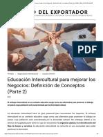 Educación Intercultural para mejorar los Negocios_ Definición de Conceptos (Parte 2) _ DIARIO DEL EXPORTADOR_Lourdes Ortecho