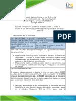 Guia de actividades y Rubrica de evaluacion - Tarea 3 - Diseño SGSST - Etapa 1