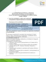Guia de hhh y Rúbrica de evaluacion - Fase  2 Bases conceptuales de Aprovechamiento de Residuos Sólidos