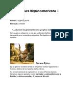 Literatura Hispanoamericana I