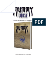 Mummy The Curse KS Manuscript Preview 1