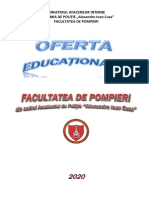Oferta Educationala Facultatea de Pompieri 2020