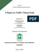 traffic volume study 1st part
