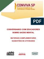 MATERIAL DE APOIO - Saúde mental de crianças e adolescentes - atividades complementares