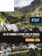 Las actividades extractivas en México_ Estado actual. Anuario 2016