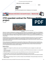 CTCI awarded contract for Petronas RAPID project