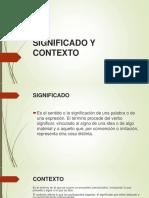 SIGNIFICADO Y CONTEXTO