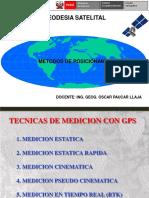 TIPOS DE POSICIONAMIENTO GNSS Y PRESICIONES EN LEVANTAMIENTOS