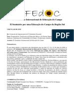SIFEDOC - Circular I _ IV Seminário Internacional de Educação do Campo