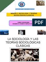 Sesion 2. Sociología y teoras sociolgicas clsicas