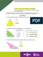 Solución Tarea 5.- Perímetro y área de triángulos y paralelogramos