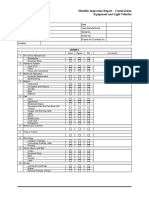 Form 000.653.F0108 - Monthly Inspection - Construction Equipment and Light Vehicles