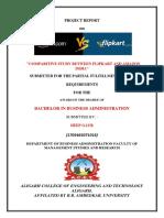 project report on Amazon vs. Flipkart