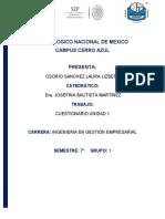 17500333 Laura Lizbeth Osorio Sanchez. Cuestionario U1